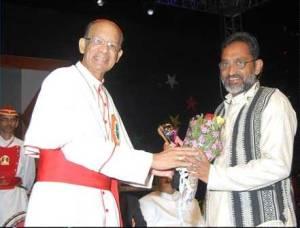 Archbishop with Joseph Dias