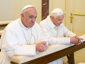 Pope Francis and Pope Benedict XVI
