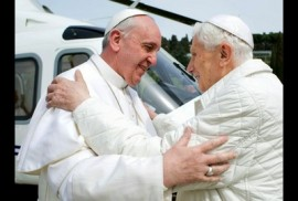 Pope Francis and Pope Benedict XVI.