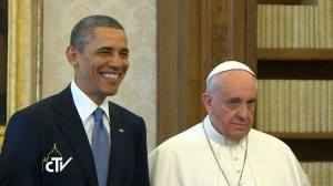 POPE FRANCIS WITH OBAMA