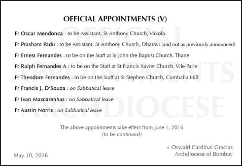 APPOINTMENTS V